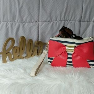 Betsy Johnson Red Bow Wristlet